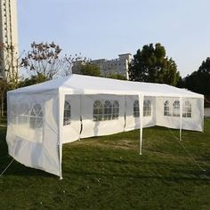 X Ft (Three-Side Wall) Party Wedding Tent Outdoor Patio Tent Canopy Heavy duty Gazebo Pavilion Event Wedding flea camping outdoors parties lawn Party Farmers Market - RopedOnCedar - 1 Party Gazebo, Party Canopy, Pop Up Canopy Tent, Shade Canopy, Lawn Party, Patio Tents, Gazebo Canopy, Backyard Canopy, Canopy Outdoor