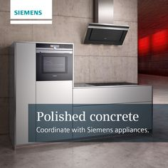 What do you think to polished concrete kitchen designs? #mj #siemensappliances http://www.milliganandjessop.com/contact-us Siemens Siemens Home UK