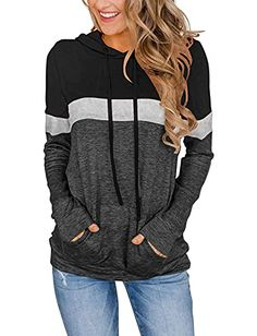 """Amazon has the CHICZONE Hoodies for Teen Girls Trendy Color Block Hooded Sweatshirt Women Pullover Tops with Pocket Black Grey S marked down from $25.98 to $15.59. That is $10.39 off retail price! TO GET THIS DEAL: GO HERE to go to the product page and click on """"Add to Cart"""" Enter code 4068AUCBat checkout…"""
