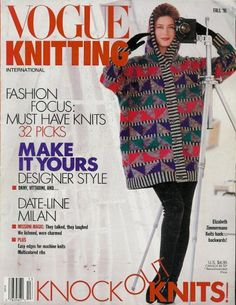 VOGUE KNITTING INTERNATIONAL Fall 1991, 128 pages, 32 patterns. * ETHNIC FLORAL DESIGNS * A MELTING POT OF DIVERSE CULTURES * NATIVE AMERICAN * AMISH * BALTIC KILIM * MODERN MIXES OF COLORS & TEXTURES * CABLES * INTARSIA * WOODSY COLORS/NATURE'S TEXTURES * NEUTRAL COLORS/NATURAL TEXTILES * OPTICAL/GEOMETRIC PRINTS  * FEMININE EMBELLISHMENTS * RETRO STYLES #VogueKnittingInternational #MagazineBackIssue
