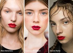 Spring/ Summer 2017 Makeup Trends: Red Lips