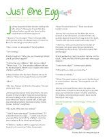 Cute story about Christlike service. Could read and then decorate eggs.
