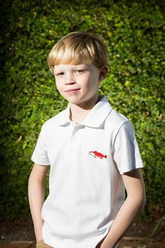 Boys Red Fish Shirt by Crescent Moon Children