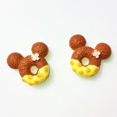 "Resin donuts med ""Minnie Mouse""-ører, 24mm // Resin donuts, for beading - ideal for earrings! :-)"