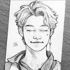 Kpop Drawings, Pencil Art Drawings, Art Drawings Sketches, Arte Van Gogh, Children Sketch, Game Concept Art, Drawing Skills, Kpop Fanart, Art Sketchbook