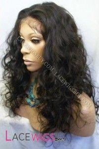 """16"""" Body Wave #1B Full Lace Wigs 100% Indian Remy Human Hair"""