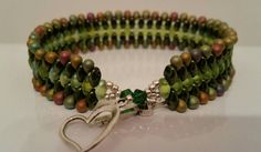 Check out this item in my Etsy shop https://www.etsy.com/listing/233802774/beautiful-dark-and-light-green-super-duo