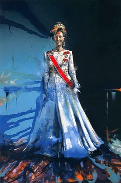 Håkon Gullvåg Hakone, Oil Portrait, Portraits, Royal Fashion, Norway, Royalty, Artsy, Queen, Contemporary