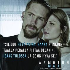 Hyvä poika..?  ARMOTON MAA elokuvateattereissa 20.1.         @nordiskfilmfinland