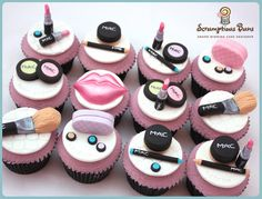 MAC Make Up Cupcakes  Cake by Samantha Douglass
