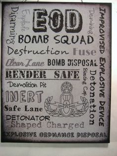 EOD Subway Art Print with Master Badge on Wood by CreationsbyGena, $15.00