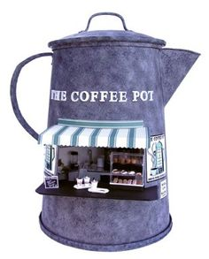 how to: The Coffee Pot espresso stand by Joann Swanson (full instructions and printables) miniature shop dollhouse Vitrine Miniature, Miniature Rooms, Miniature Houses, My Coffee, Coffee Shop, Tiny World, Mini Things, Miniture Things, Fairy Houses