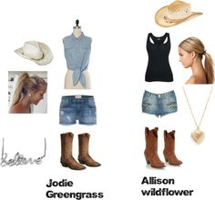 """cowgirls"" by britney-murray ❤ liked on Polyvore"