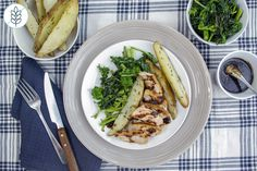 Maple-Glazed Pork Chops - with Rosemary Potato Wedges Rosemary Potatoes, Glazed Pork Chops, Potato Wedges, Cheesesteak, Make It Simple, Meals, Fresh, Chicken, Ethnic Recipes