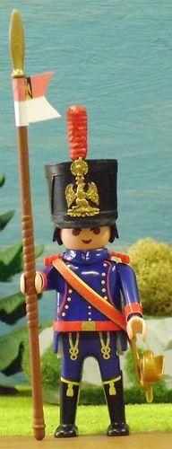 FRANZOSE LANCIER de la Garde Imperiale Napoleon PLAYMOBIL © CUSTOM UNIKAT - 26
