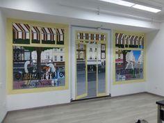 El último #mural que hemos hecho para la cafetería de la Universidad Cardenal Cisneros.  ¿Qué os parece?
