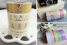DIY and creative ideas. Imagine the creative possibilities! Check out all the fun washi tape designs available for a steal at pickyourplum.com!