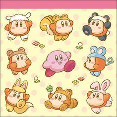 Hoshi no Kirby - Square Memo pad, Kirby & Animal Waddle Dee