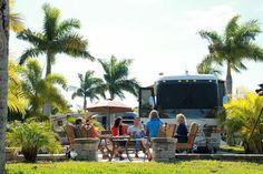 Naples Motorcoach Luxury RV park in Naples FL