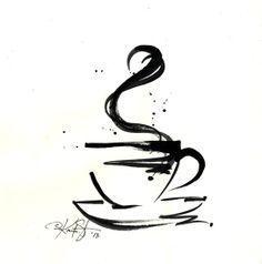 Coffee Cup Mug Design tattoo