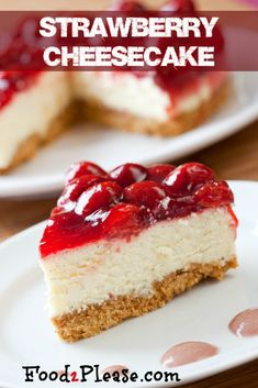 A wonderful recipe for a New York style cheesecake by Amy Wisniewski. This cheesecake is nice and tangy and i really love the fact it uses fresh strawberries. Even though the baking method may take a little longer than usual you get a nice smooth...