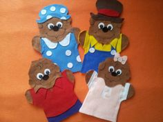 Berenstain Bears puppets by puppetmaker on Etsy, $22.99