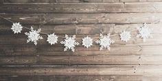 Snowflake garland shared by Rhonda on We Heart It Christmas Is Coming, Little Christmas, Winter Christmas, Winter Holidays, Christmas Lights, Christmas Decorations, Christmas Cover Photo, Christmas Facebook Cover, Winter Facebook Covers