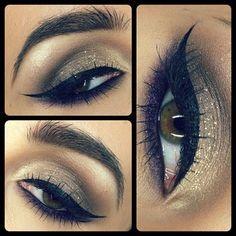 Gold & Purple Makeup