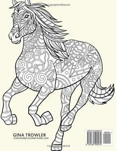 Amazon Horse Coloring Book Stress Relief Patterns For Adult Relaxation