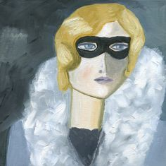 Iris H. Incognito.  Limited edition print of an by vivstrauss, $30.00