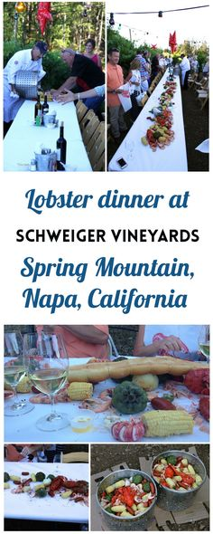 Lobster dinner at Schweiger Vineyards and Winery in Napa Valley