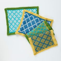 Practice slip stitch knitting with these thoroughly stylish placemats.