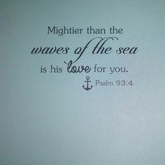 Nautical bible decal