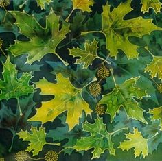 Silk Painting Fruits and Foliage of the Oriental Plane LEONARD THOMPSON