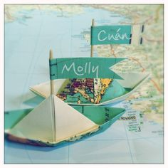 - RE-CYCLED WRAPPING PAPER BOATS Made from re-cycled paper and possible in many different colours, patterns & sizes.