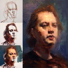 Zin Lim work in progress WIP oil painting demo