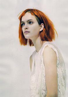 I like the way wig bangs look. JOHN LINDQUIST, LULA ISSUE 9 AW09
