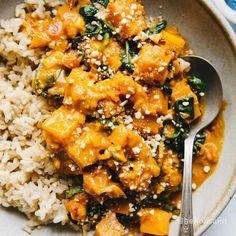 Gluten Free Recipes, Vegan Recipes, Butternut Squash Curry, Whole Food Recipes, Dinner Recipes, Baked Squash, Eat Pizza, Simply Recipes, Curry Recipes