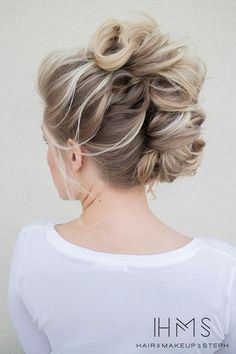 Curly Take on a French Twist! So Cute!