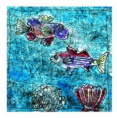 One of the blocks on my Ocean Life Quilt fabric that is selling http://www.spoonflower.com/designs/1717265