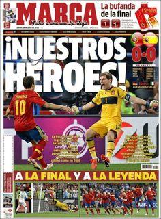 """Los """"héroes de la Roja"""" en las portadas de los diarios"""