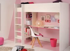 Available in a choice of two colours to appeal to all genders, the Carter high sleeper saves a lot of bedroom space whilst also providing a workstation for your child's activities.