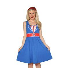 Captain America Costume Dress from HerUniverse.com