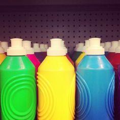 bright bottles via @happymundane on Instagram