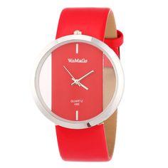 2014 творческий мода мужчины женщины кожа изысканный полые прозрачные часы кварцевые часы спорт подарочные наручные часы relojes