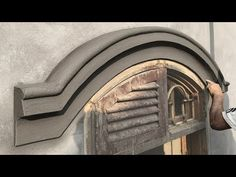 YouTube Cement House, Cement Work, Front Wall Design, Window Design, Cement Render, Cornice Design, Pillar Design, House Design Pictures, Classic House Design