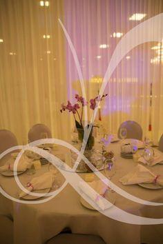 Wedding table settings done by us Leila Temori