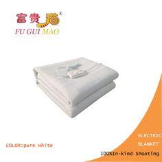 FUGUIMAO Manta Eléctrica Doble Manta de Calefacción Eléctrica de Color Blanco Puro 220 v Calefacción Climatizada Manta Cuerpo Más Caliente 150x120 cm colchón