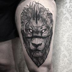 """10.5k Likes, 55 Comments - Fredão Oliveira (@fredao_oliveira) on Instagram: """"Lion   muchas gracias Sebastian  Feito na @inkonik_tattoo_studio  #electricink"""""""