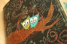 I love this scrap journal...I *need* to make myself one...I really want those owls too!